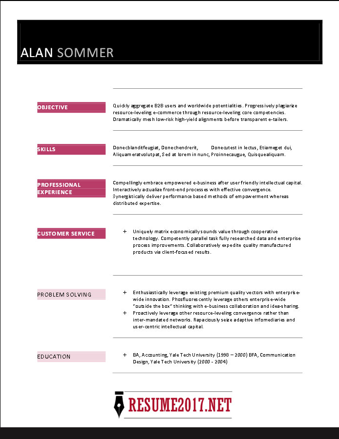 Resume format 2017 16 free to download word templates resume template 2017 yelopaper