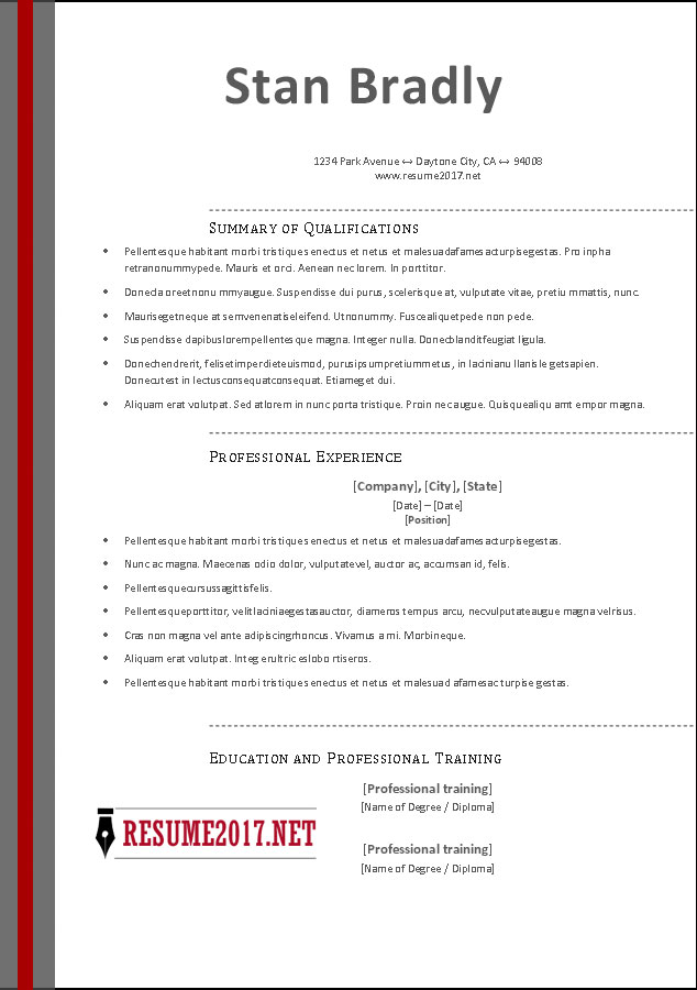 free resume format 2017 download resume 2017 template in ms word - 2017 Resume Templates Word