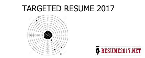 targeted resume format one shoot