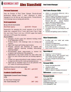 resume 2017 examples