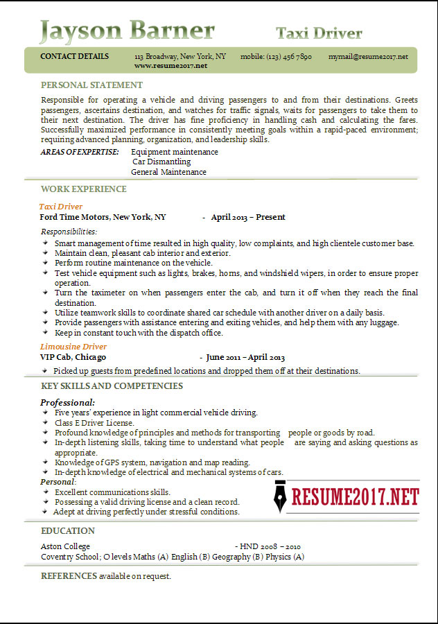 great commercial driver resume images gallery car driver resume