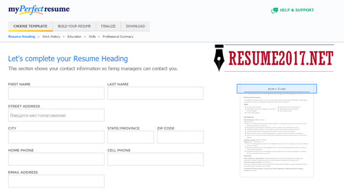 resume builder 2017 review
