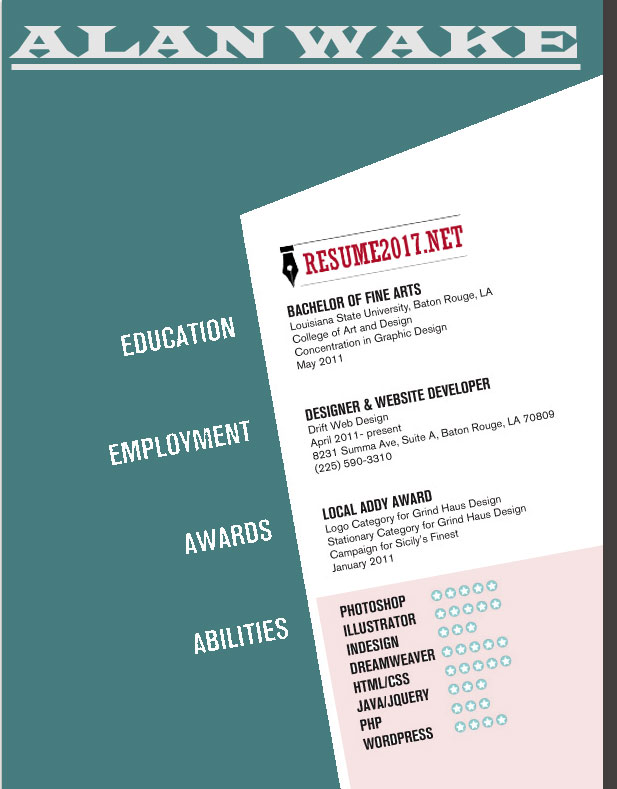 Resume Templates To WIN - Example ccreative resume template