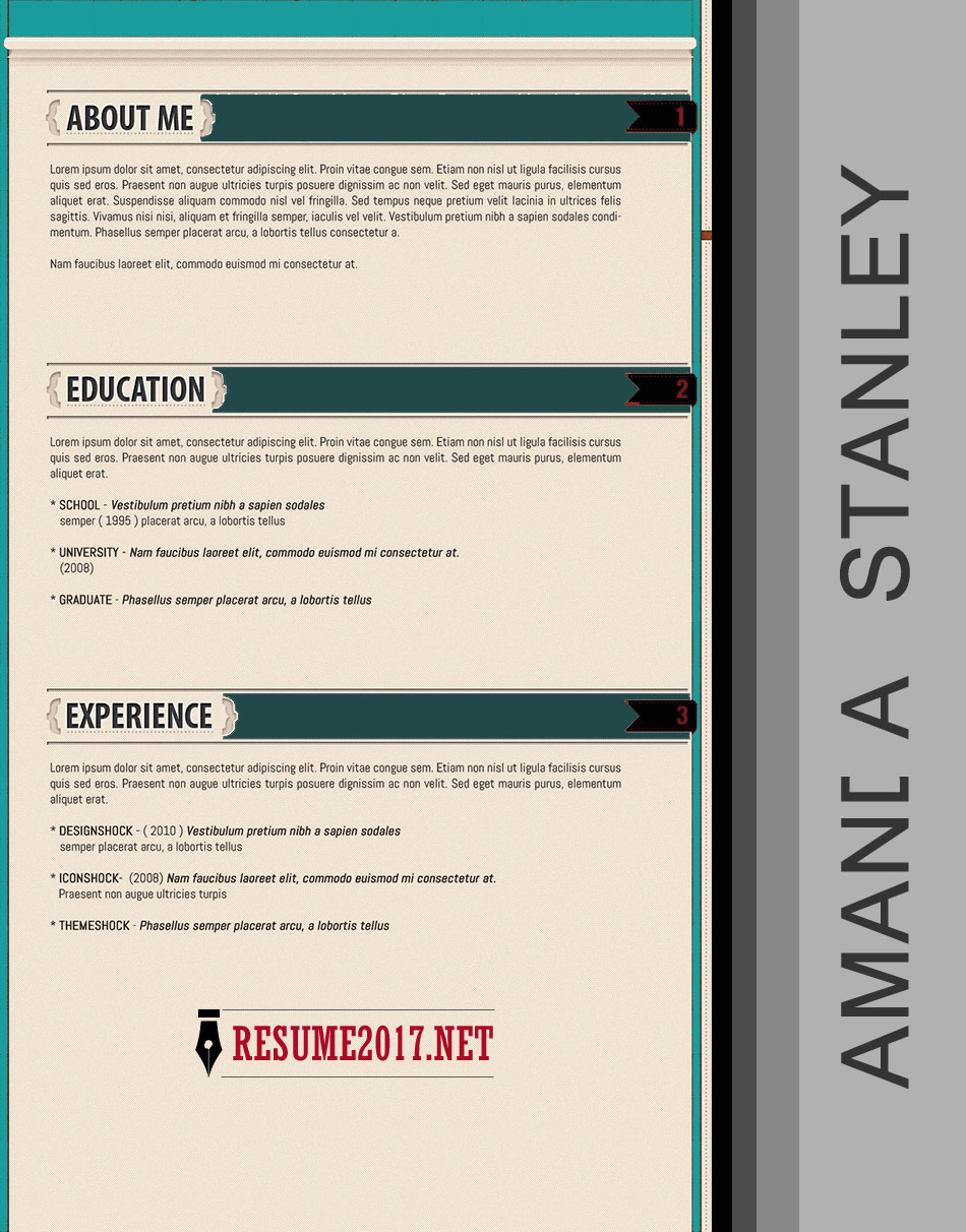 creative resume template 2017 - Winning Resume Template