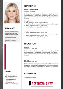 Creative resume template 2017