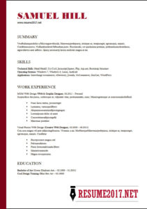 Functional resume 2018 Example Word