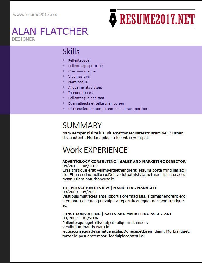 Resume Format    Latest Templates In Word