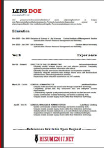 Resume 2018 for student