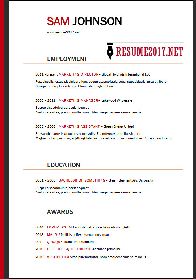 targeted resume template word 28 images resume format