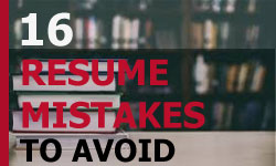 16 Resume 2017 Mistakes to Avoid